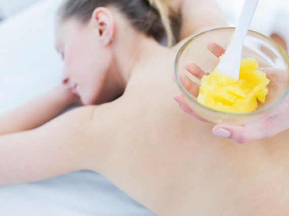 Orange scrub special offer in Sheraton Sopot SPA